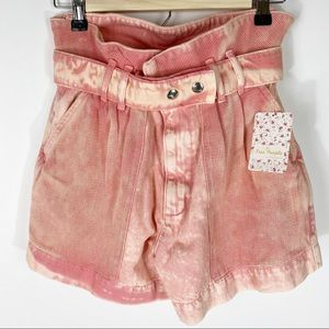 FREE PEOPLE Olivia Paper Bag High Waisted Shorts